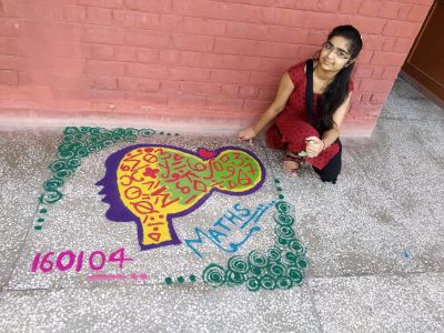 Maths Rangoli Photo